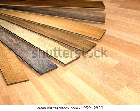 New oak parquet of different colors - stock photo