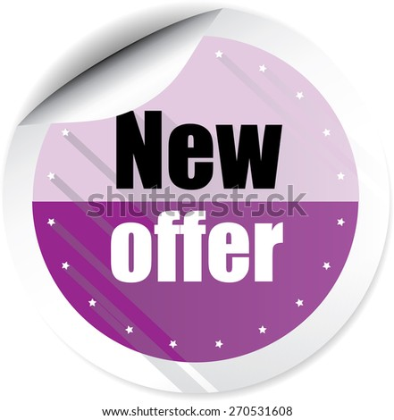 New offer modern style violet stickers and label. - stock photo