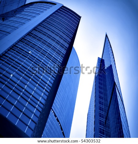 new office building in business center - stock photo