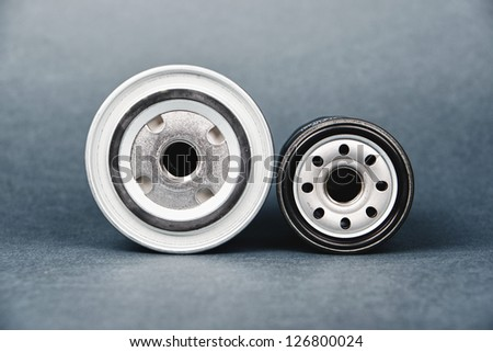 new oil filters for automatic. Car engine oil filter - stock photo