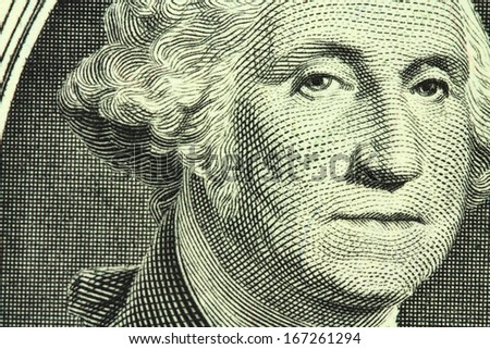new one dollar bill closeup - stock photo