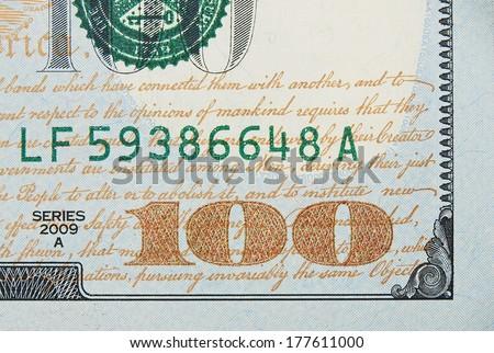 New one hundred dollar bill  - stock photo