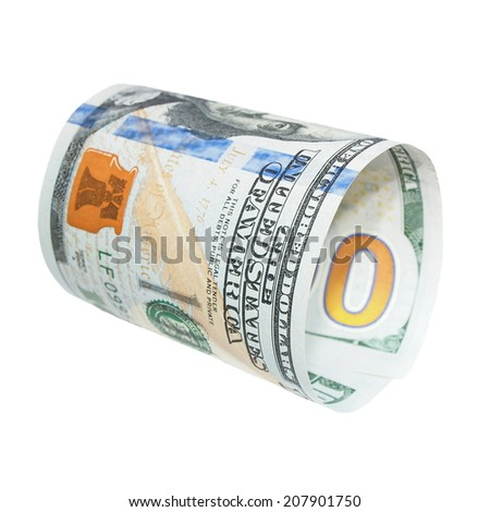 New one hundred dollar bill isolated on white - stock photo