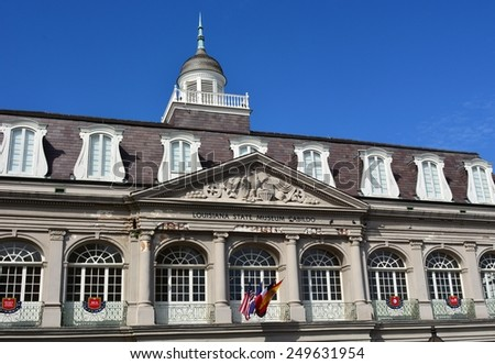 NEW ORLEANS, LA-JAN.31: The Louisiana State Museum Cabildo building located in the New Orleans French Quarter at Jackson Square on January 31, 2015. - stock photo