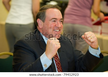 NEW ORLEANS, LA - JUNE 16: Former Governor Mike Huckabee at a book signing at the Republican Leadership Conference on June 16, 2011 at the Hilton Riverside New Orleans in New Orleans, LA. - stock photo