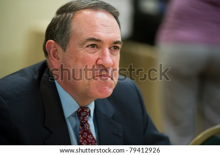 NEW ORLEANS, LA - JUNE 16: Former Governor Mike Huckabee at a book signing at the Republican Leadership Conference on June 16, 2011 at the Hilton Riverside New Orleans in New Orleans, LA.