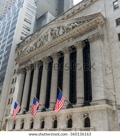 New Orleans, LA USA - 06/01/2015 - New York City Wall Street