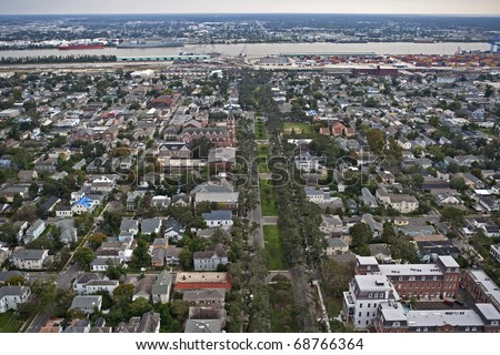 New Orleans, Louisiana about one year after Hurricane Katrina - stock photo