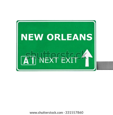 NEW ORLEANS road sign isolated on white - stock photo