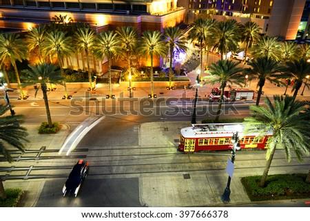 New Orleans Street Car - stock photo