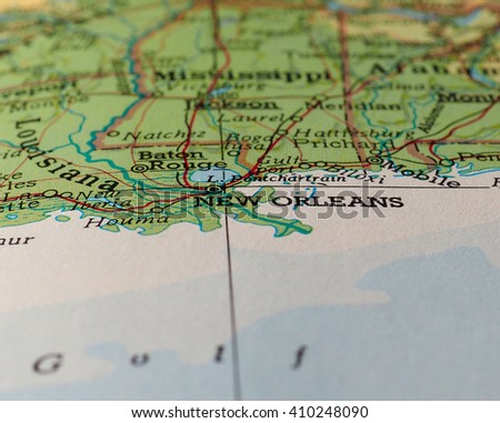 New Orleans Map Stock Images RoyaltyFree Images Vectors - Map of new orleans usa