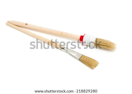 new paint brush isolated on a white background