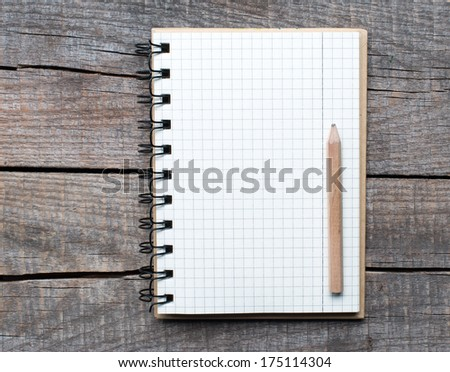 New pattern paper page and line space with pencil.  - stock photo