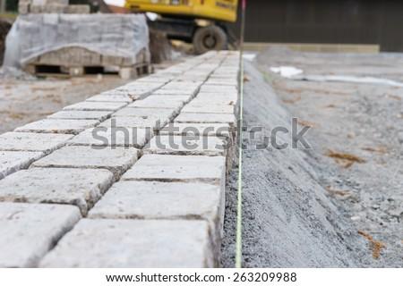 New paving stones - stock photo