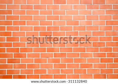 New Perfectly Brick Wall Pattern Background For Architecture Design Front Or Top View