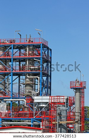 new petrochemical plant construction site
