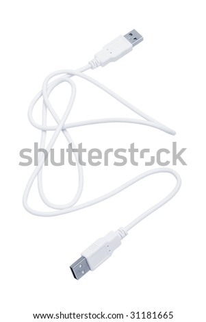 New plug usb on a white background