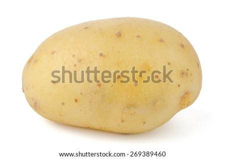 New potato isolated on white background close up. - stock photo