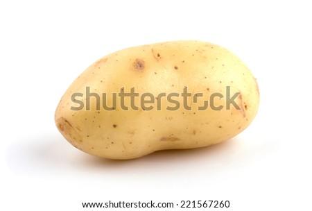 New potato isolated on white background cutout - stock photo