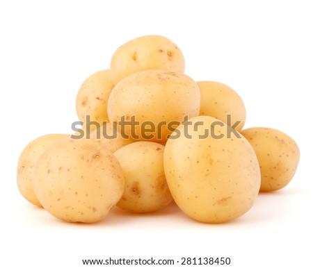 new potato tuber isolated on white background cutout - stock photo