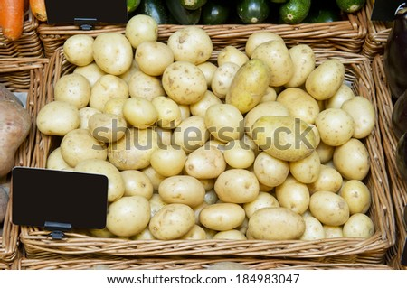 new potatoes in a store