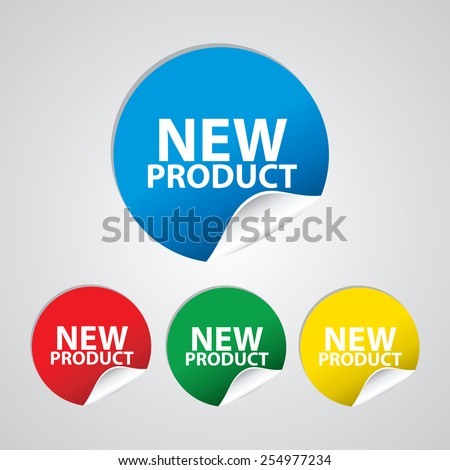 New product colorful sign, icon, label, sticker and tag set. Special offer symbol. - stock photo
