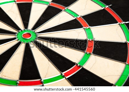 New professional dart board background close up