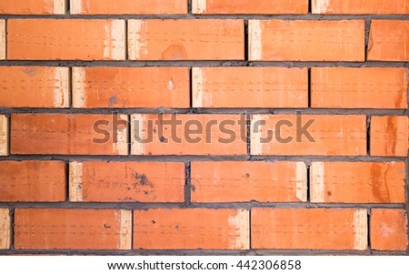 new red brick wall background