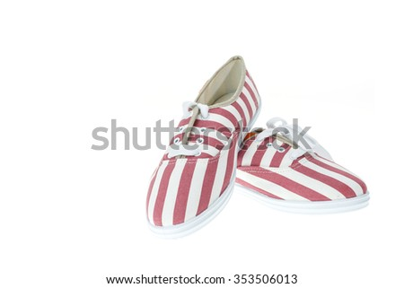 New red lady shoe isolated on white background
