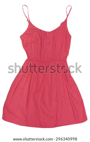 new red sundress isolated on white