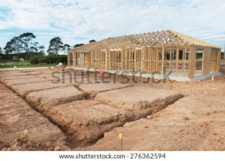 Residential construction stock images royalty free images for Stages of home construction