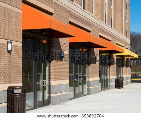 New retail space available for rent - stock photo