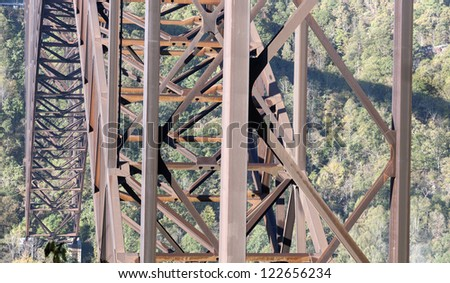 New River Gorge Bridge in West Virginia - stock photo