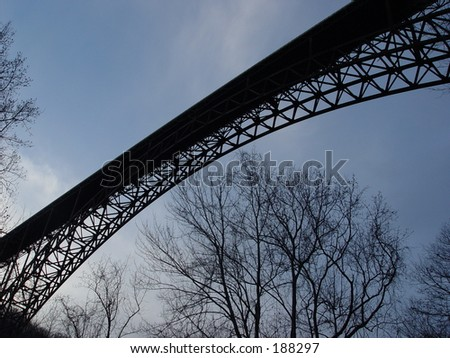 New River Gorge Bridge, West Virginia - stock photo