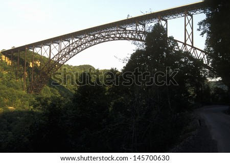 New River Gorge Bridge, WV - stock photo
