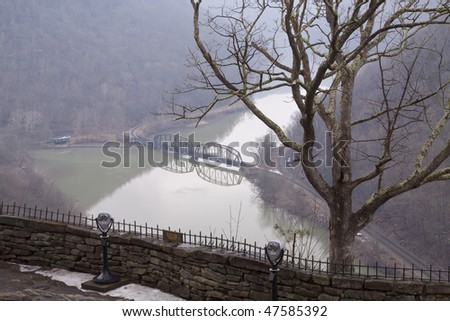 New River Gorge Overlook - stock photo