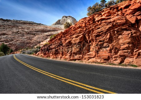 new road in beautiful landscape