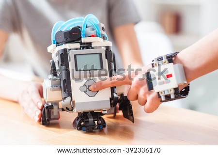 new robotics technologies for house - stock photo