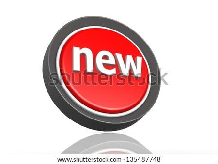 New round icon - stock photo