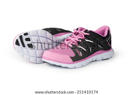 New running shoe isolated on white background - stock photo