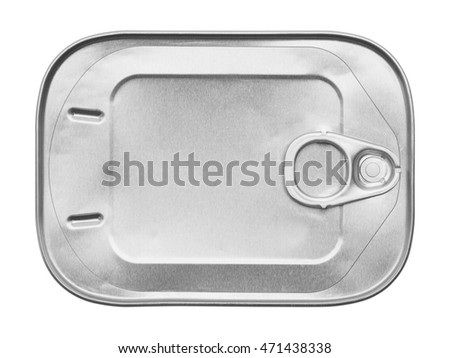 New Sardine Can Isolated on White Background.