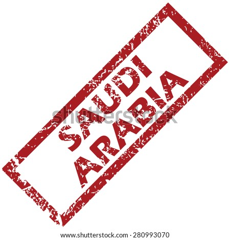 New Saudi Arabia grunge rubber stamp on a white background