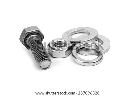 new screw isolated on the white background - stock photo