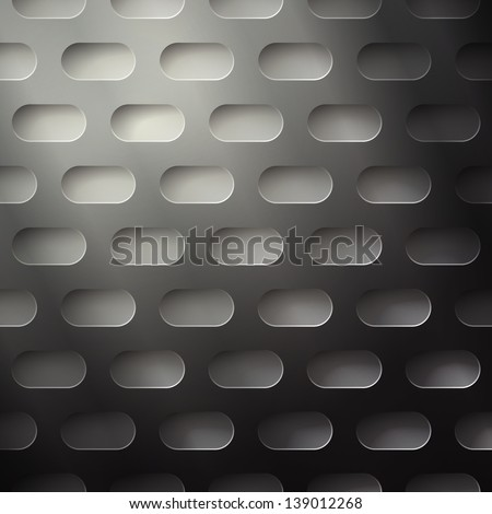 new seamless pattern with metallic perforated grid can use like technology background - stock photo