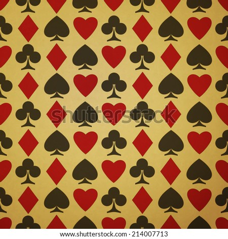 new seamless pattern with suit symbols can use like casino wallpaper