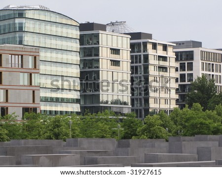 new skyscrapers - stock photo
