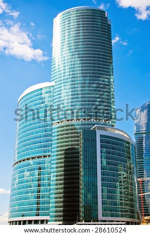 New skyscrapers business center in Moscow city, Russia