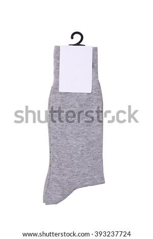 New socks isolated - stock photo