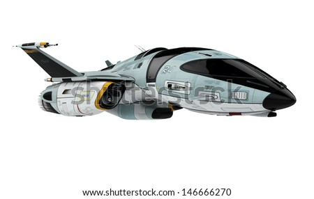 new space ship - stock photo