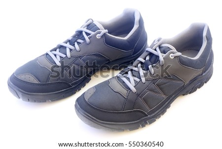 New sport shoes isolated on white background closeup